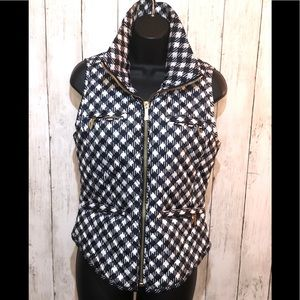 NWT🏷Michael Kors Packable Houndstooth Vest S